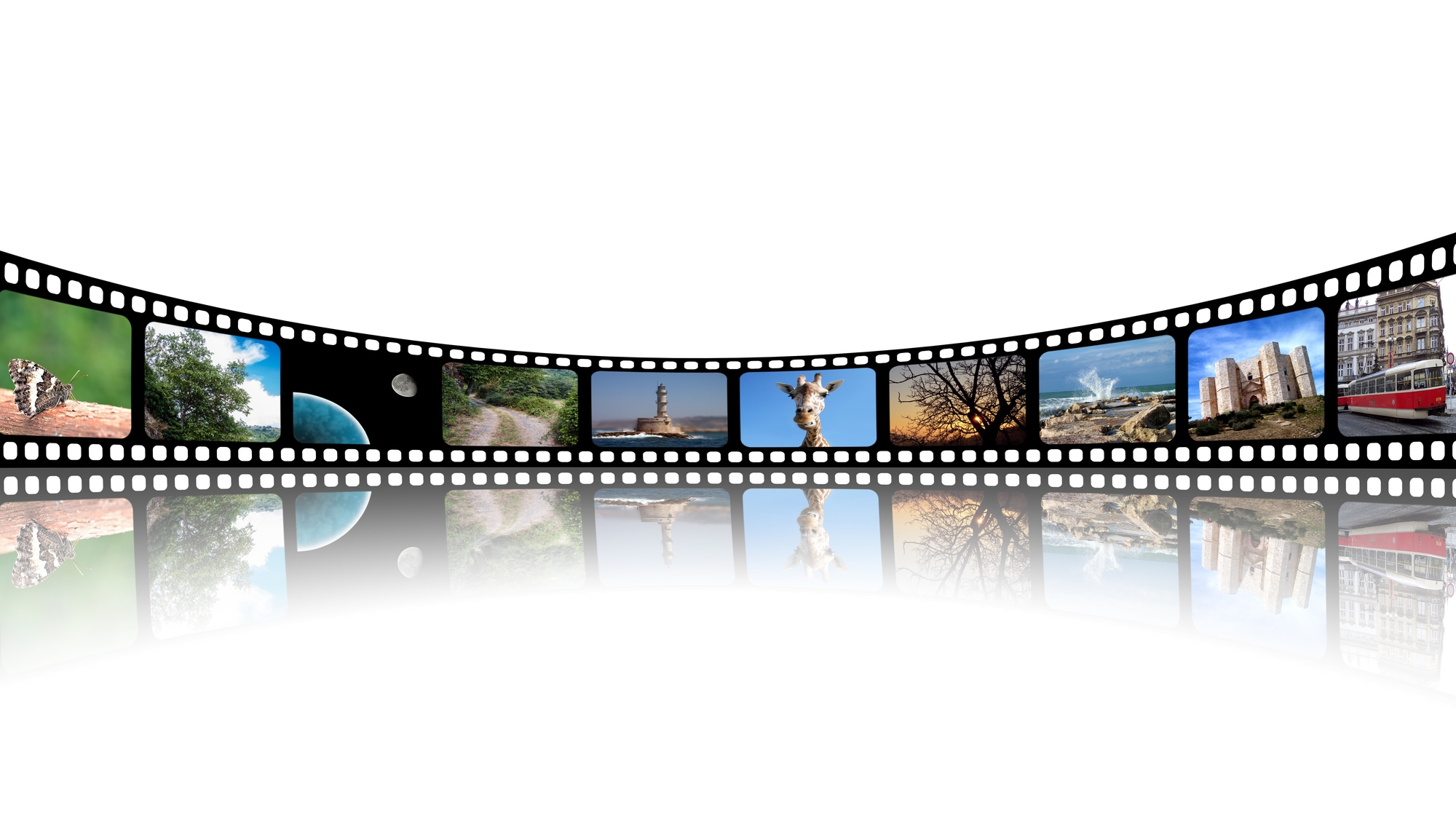 a film strip of video frames