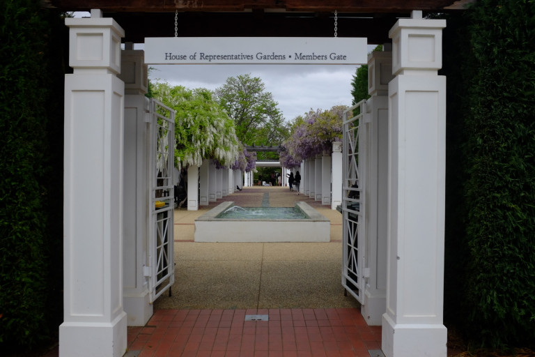 entrance to house of representatives garden at old parliament house