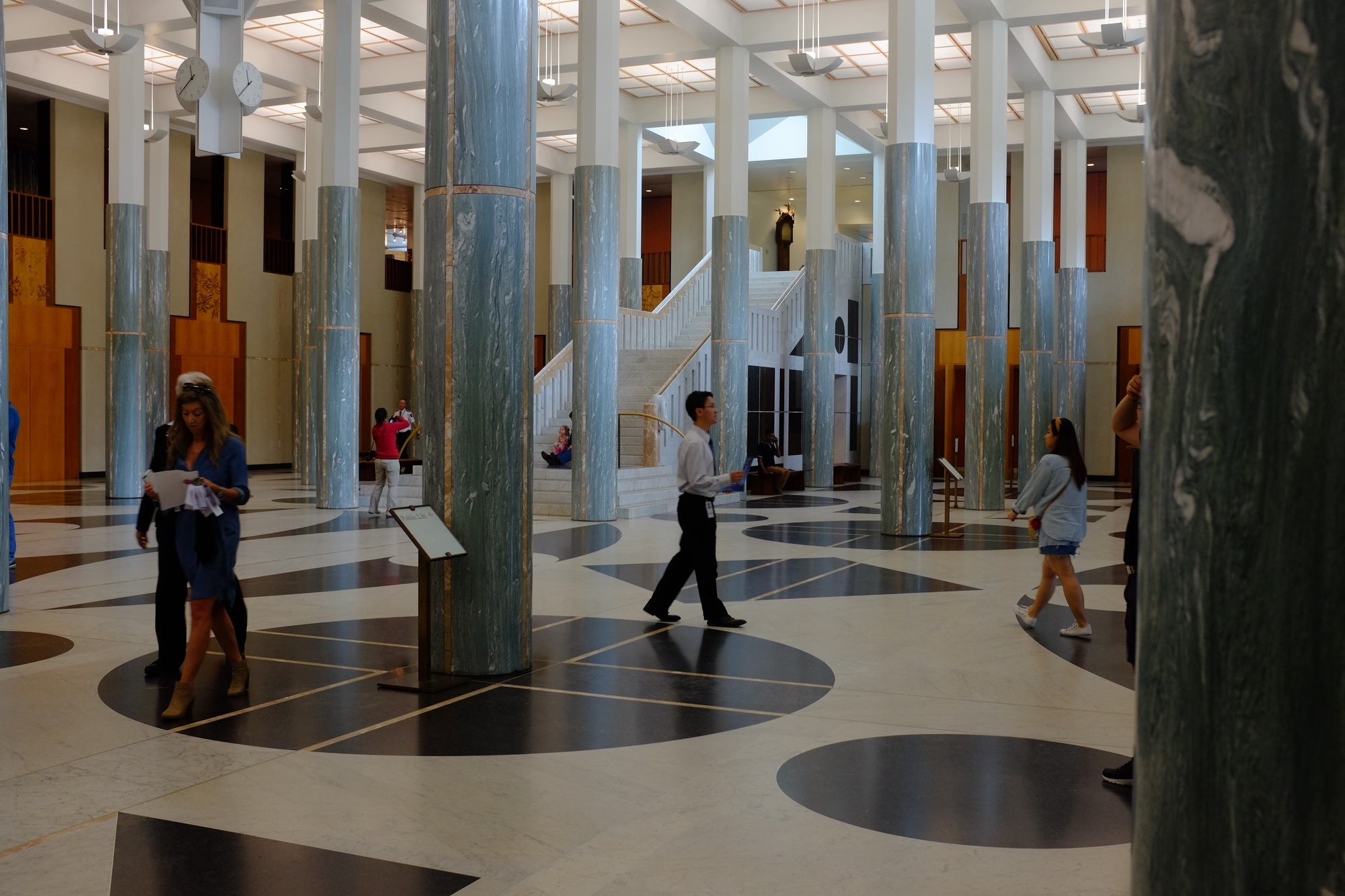 view of the front entrance hall at parliament house