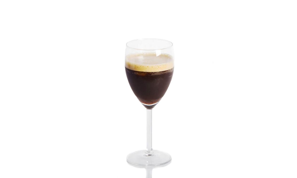 a glass of espresso fredo
