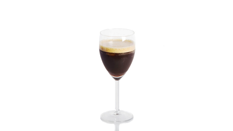 a glass of espresso fredo