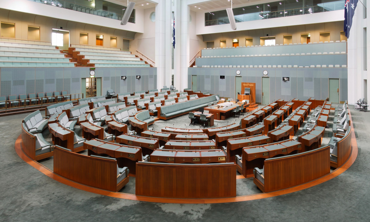 the Australian House of Representatives chamber