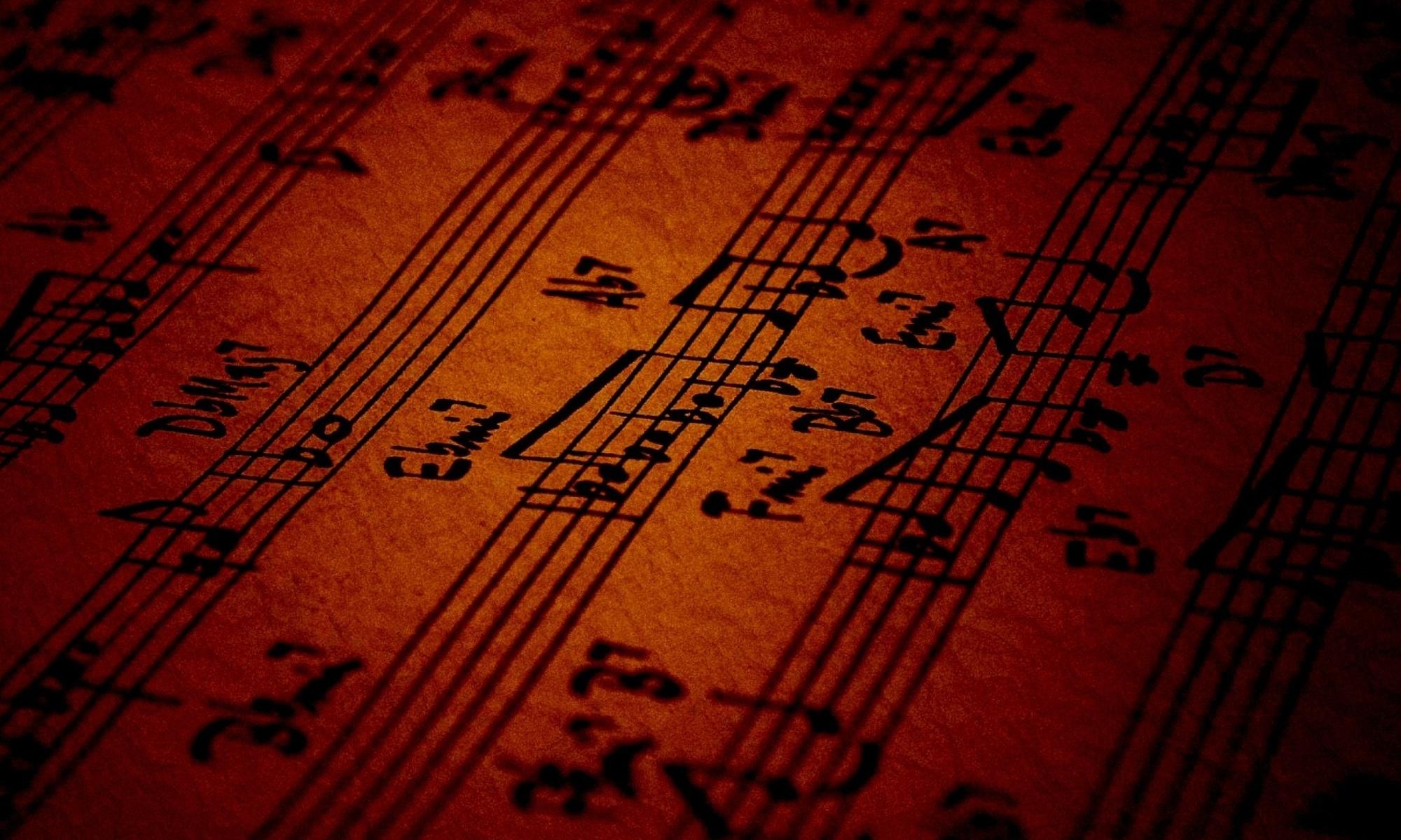 a music lead sheet