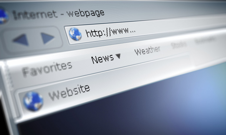 a browser screen