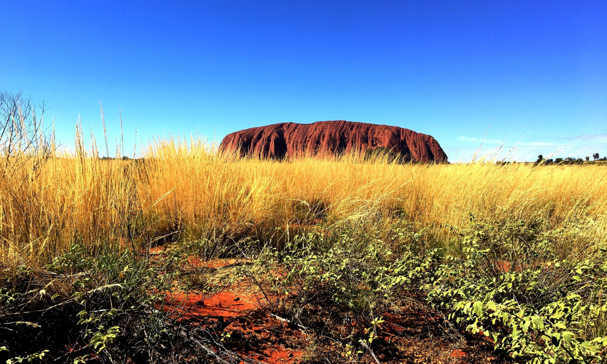 Uluru taken from the most popular photograher's location