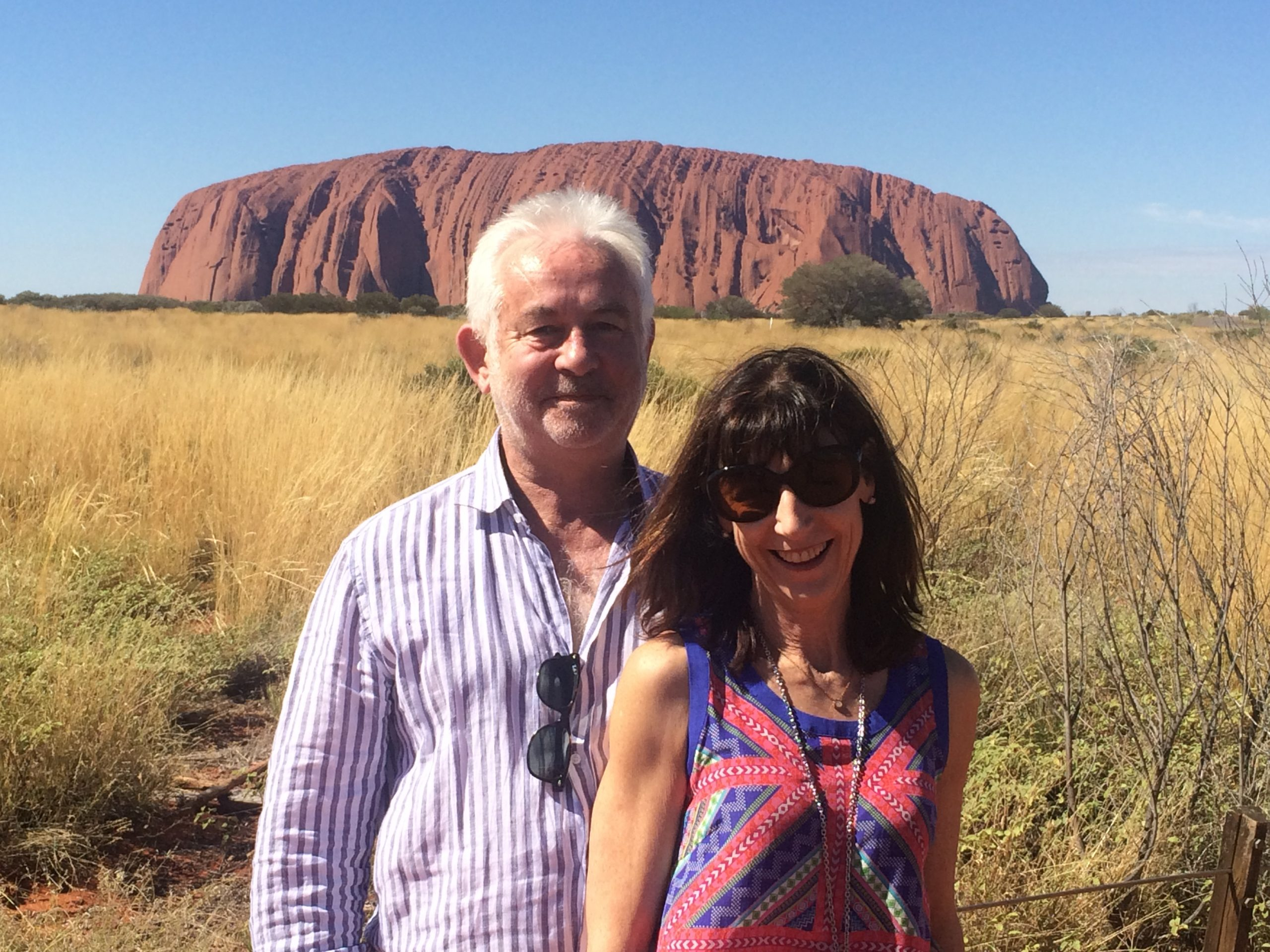 keith and Karenne in front of Uluru
