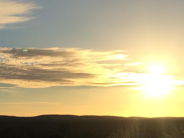 sunset over Kata Tjuta mountain range