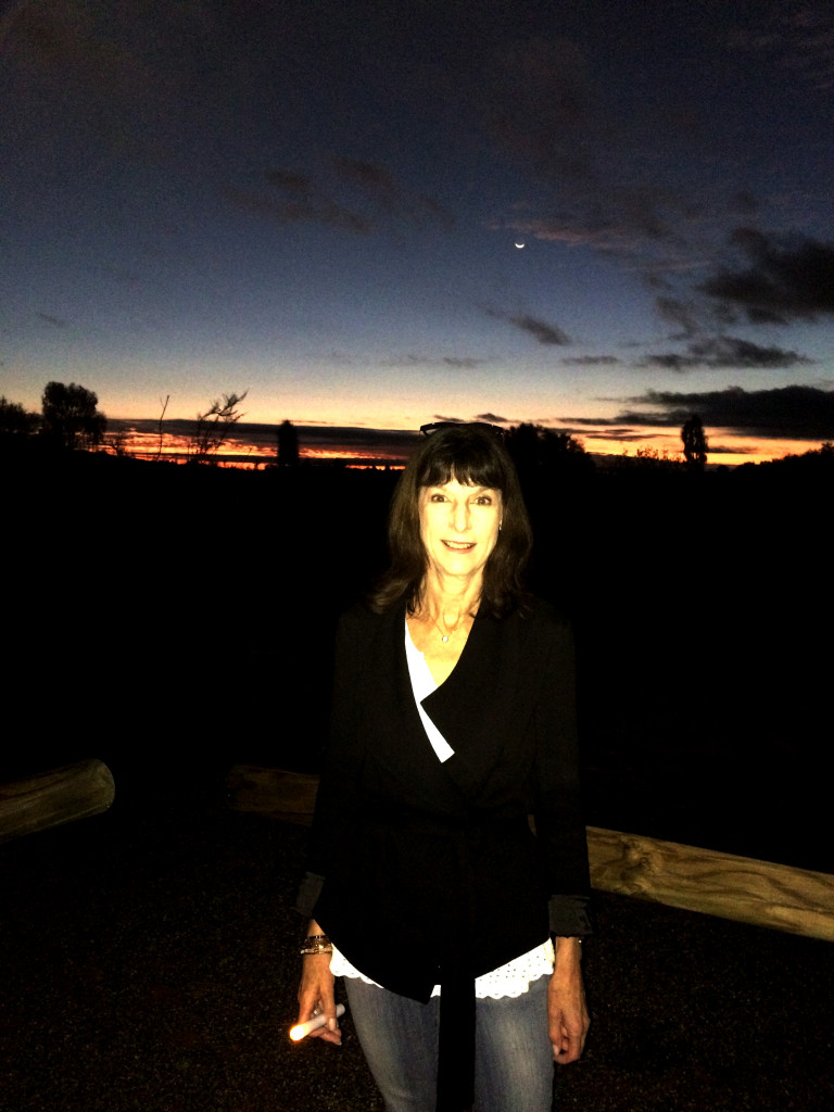 Karenne at ANZAC day dawn service near Uluru