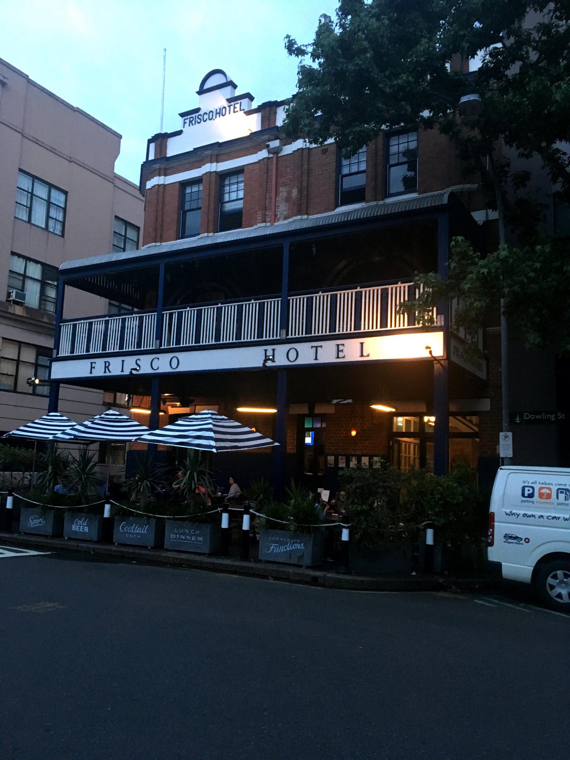 frisco hotel facade in dowling street, woolloomooloo