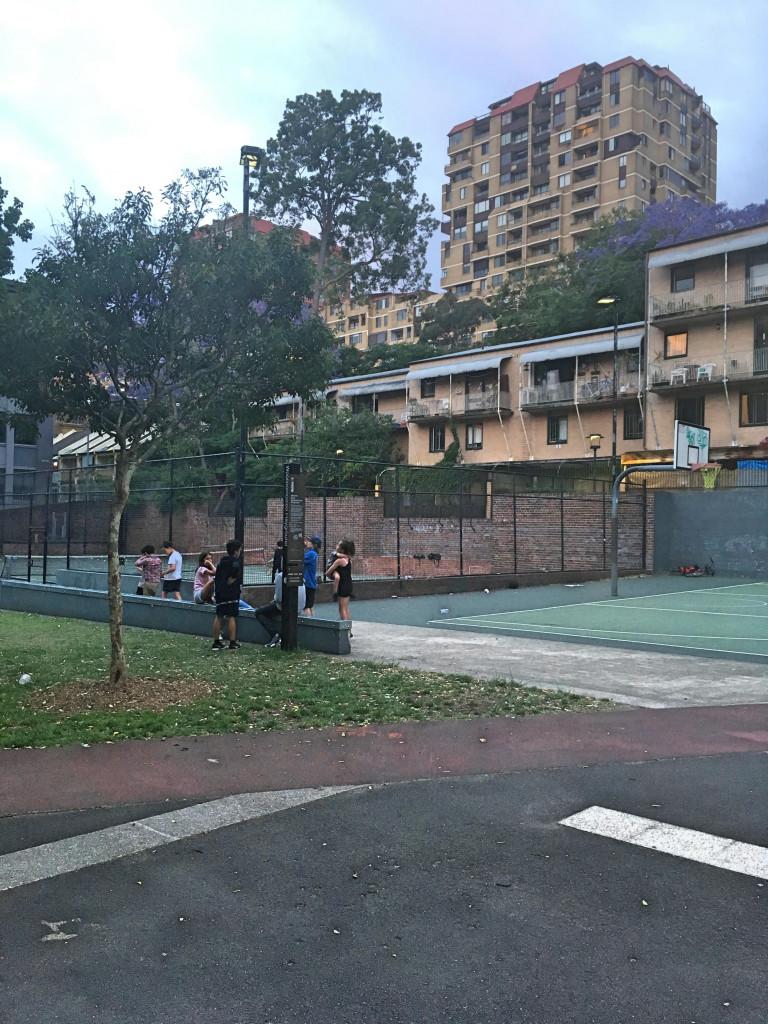 playground in dowling street, woolloomooloo