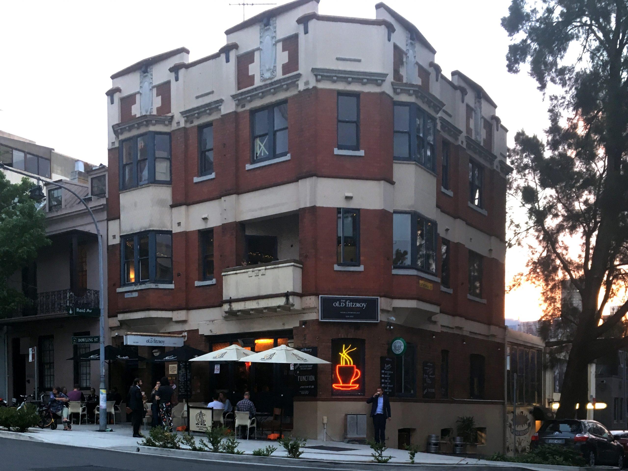 old fitz hotel in dowling street, woolloomooloo